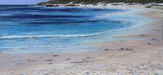 Seascape Painting - Ann Steer - Coastal Stroll Bunker Bay