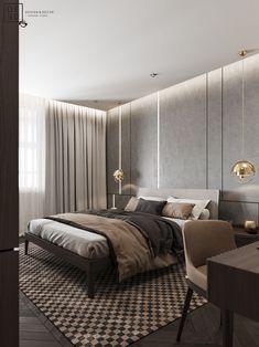 DEDE/Brutal minimalism on Behance Interior Design Photography, Modern Interior Design, Interior Architecture, Modern Bedroom, Bedroom Decor, Small Apartment Interior, Dark Interiors, Rustic Houses Exterior, Luxurious Bedrooms
