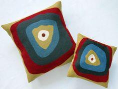 Gray Target pillow