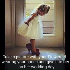 It's a really cute idea, but what if she doesn't have the same shoe size as you? Haha.