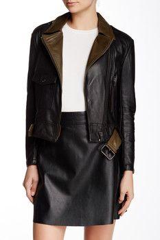 Muubaa Marino Bonded Genuine Leather Jacket