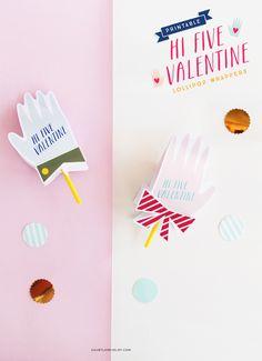 DIY Hi Five Valentines