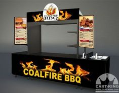 Call Cart-King today to get a run down on our pricing. In general terms the unit show above is: – Cart with branding: USD – Matching branded self contained 4 basin sink: USD – Additional display menus: 499 USD each – Under-counter Fridge: 899 USD Food Cart Design, Food Truck Design, Food Carts For Sale, Food Cart Business, Small Kitchen Bar, Brazilian Restaurant, Mobile Food Cart, Food Kiosk, Restaurant Exterior