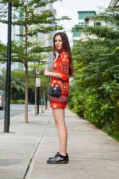 Trends for Spring 2016: here's my oriental look! I'm wearing a red dress by Asos, with black accessories! | Una tendenza per la primavera 2016: ecco il mio look orientale! Indosso oggi un abitino rosso da Asos e gli accessori neri!