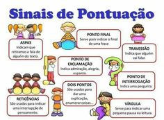 LIÇÃO SOBRE PONTUAÇÃO Learn Portuguese, Autism Support, Kids Study, Back 2 School, Spanish Activities, Sistema Solar, Kids Playing, Professor, Growing Up