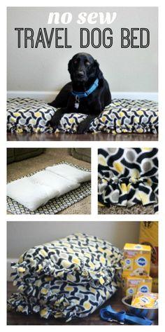 DIY Dog Bed Made from a Crib Mattress with DIY Fleece Cover DIY Hundebett aus einer Krippenmatratze mit DIY Fleece Bezug Diy Pet, Diy Dog Toys, Diy Dog Bed, Homemade Dog Bed, Pet Beds Diy, Dog Pillow Bed, Cat Beds, Dog Crate Cover, Diy Dog Crate