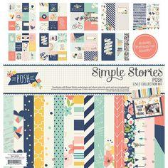 Simple Stories - POSH, Carpe Diem 12x12 Collection Kit, Hipster, Women, Everyday