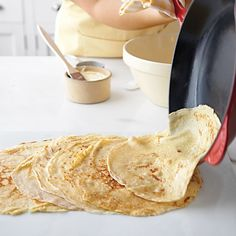 This recipe can be used as the basis for any crepe creation. The buckwheat variation has a slightly heartier texture and a more robust flavor. It's best paired with savory fillings. See our Basic Crepe How-To for more photos.