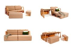12 Super Useful Space Saving Furniture Designs: A Sofa That Transforms into a Bed and Dining Table