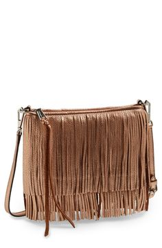 Fall favorite! Love this Rebecca Minkoff convertible clutch with fringe detail.