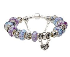 (6.3inch/16cm) Mother's Day Love Gifts Pandora European Style Blue & Purple Murano Glass Beads MOTHER and DAUGHTER Dangle Charm Beaded Complete Silver Plated Bracelets for Moms Mums Jewelry Mother's Day Jewelry,http://www.amazon.com/dp/B00CHJYNBE/ref=cm_sw_r_pi_dp_UfA6rb19BT2PX2MX