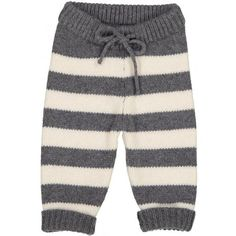 92% merino, 8% cashmere Warm winter weight stripe pants