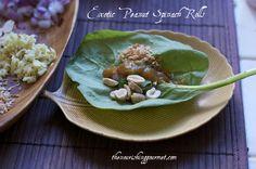 Exotic Peanut Spinach Rolls