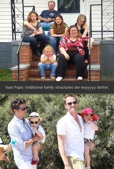 Traditional family vs. new family… #lol