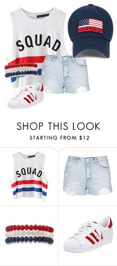 """""""Untitled #22"""" by marlyasia ❤ liked on Polyvore featuring Chicnova Fashion, Topshop, Kim Rogers and adidas"""