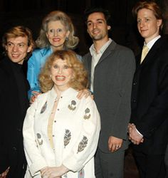 Vladimir Malakhov, Aileen Mehle, Judith Peabody, Angel Corella, & Ethan Stiefel - Judy Peabody was a fascinating New York figure. At night you might see her & her husband Sam at theatre, opera & ballet openings, both elegantly turned out – she in couture & brilliant jewels, & he in well tailored dark suit or black tie – the perfect picture of late 20th-century cosmopolitan sophistication. Aileen Mehle (known by pen name Suzy Knickerbocker) is an American columnist, most active in the 1960s.