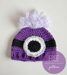 Purple minion hat - Free pattern - croby patterns  ***Elaina