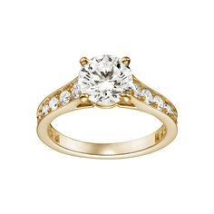 Anel de noivado / solitário de diamante cartier