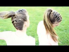 Upside down French Braid Ponytail | Braidsandstyles12 - YouTube