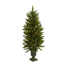 Fake Christmas Tree With Urn and Clear Lights  4 Feet Tall *** Visit the image link more details.
