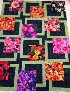 addicted-to-fabric: Light Custom on a BQ Quilt