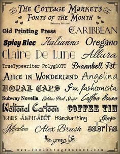 Fabulous Free Fonts for February