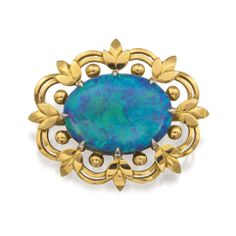 Important Jewels - AU0804 Gold and opal brooch, William Drummond & Co., Melbourne, 1963