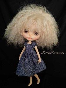 Blue Raglan Dress for Blythe Dolls