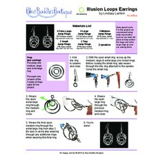 Image result for wire gauge chart awg swg decimal inch mm illusion loops earrings project blue buddha boutique greentooth Images