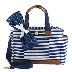 Mud Pie Bigger Bundle Diaper Bag Tote. Very large diaper bag that will hold everything you could need for your baby and more!