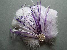 Wedding Bridal Hair Accessories Bride Feather by WeeGardens, $39.00