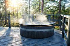 Modern Hot Tubs, New York Homes, No Worries, Barrel, Relax, Backyard, Warm, Stock Photos, Canning