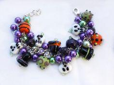 Good JuJu Halloween Charm Bracelet  Cluster by HalesBeeHandmade, $18.00
