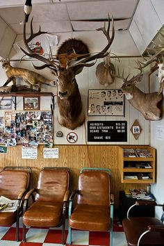 Now THAT'S what I call a barber shop! Barber Shop Inspiration- Decor Ideas and Design Buyrite Beauty Salon Equipment Barber Shop Interior, Barber Shop Decor, Beauty Salon Equipment, Man Room, Shop Interiors, Vintage Shops, Barber Shop Vintage, Salons, Old Things