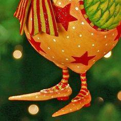 """Рождественский krinkles """"Дональд петух"""" большой орнамент новый в коробке patience Brewster 5"""" новый в коробке"""