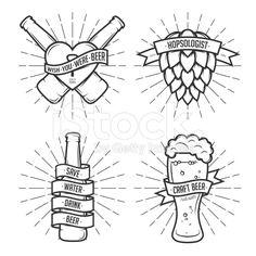 Juego de camiseta cerveza impresiones. Vintage vector ilustración. vector de…