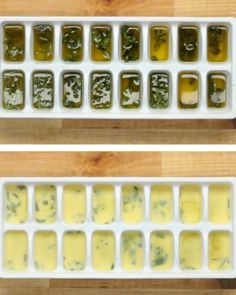 1. You can preserve herbs by freezing them in olive oil (use a freezer tray and fill them with herbs/olive oil).2. When using them to cook, take out a cube of the herb-infused oil and let it serve as the base for cooking your dish. NOTE: This works best for harder herbs like rosemary, sage, thyme, and oregano (softer herbs such as mint, basil, lemon verbena, and dill should not be preserved in this manner).