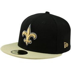 NFL New Orleans Saints Black and Team Color 59Fifty Fitted Cap by New Era.   13.55 c00b3d31a7c0