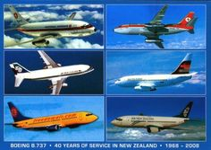 Boeing 737 in New Zealand, 1968-2008 celebrating 40 years of service