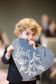 "Sign Bearer - ""... Last Chance..."" See the wedding on #SMP here:  http://www.StyleMePretty.com/canada-weddings/2014/04/10/baking-themed-wedding-in-toronto/ Photography: Rhythm-Photography.com"