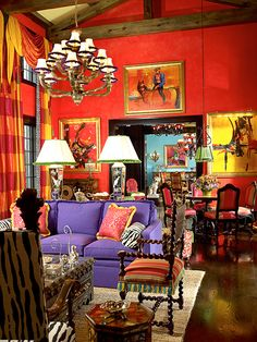 Designer Gil Walsh uses Vibrant colors