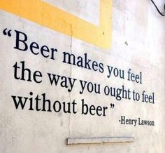 Beer Really Does It