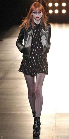 Runway Looks We Love: Saint Laurent - Fall/Winter 2015 from #InStyle