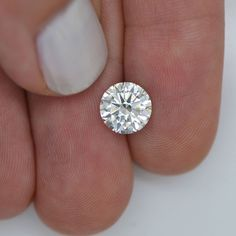 1.87 Carat Round Shaped H VS2 Eye Clean Natural Enhanced REAL Diamond For Ring #MyDiamonds