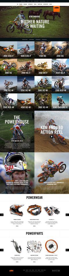 Ktm enduro Web Design, Layout Design, Print Design, Interface Design, User Interface, Car Websites, Interactive Websites, Bike Photo, Landing Page Design