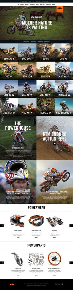 KTM.com Landing Pages / Dann Petty