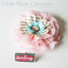 crepe paper flower tutorial - saw some like this at a store in downtown McKinney in a big white bowl - white and pink - it was really cute
