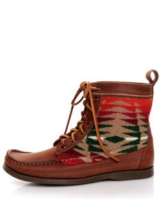 Pendleton Wool Southwest print Lace-Up Boots