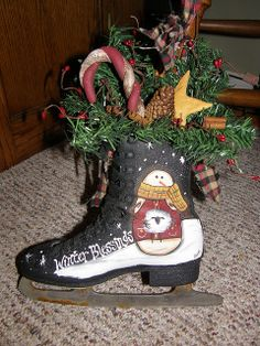 another handpainted ice skate | Flickr - Photo Sharing!