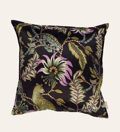 Monkey Bean Night Cushion 60x60cm cushion in Monkey Bean Night Velvet.  Double-sided print 19b6cabdaa